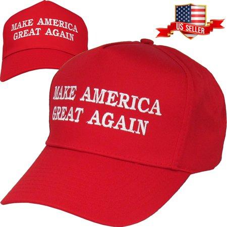 56ed8c739253d Make America Great Again - Donald Trump 2016 Red Cap Hat Snapback -  Walmart.com