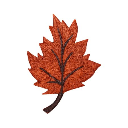 ID 1410 Maple Leaf Patch Fall Autumn Leaves Embroidered Iron On Applique