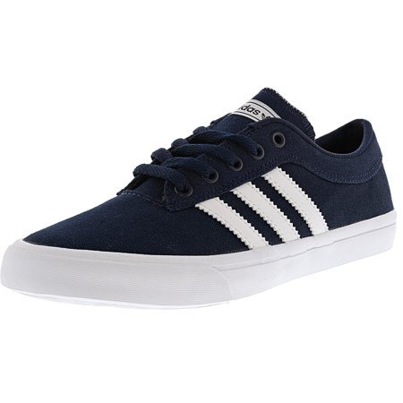 Adidas Sellwood Collegiate Navy / Ftw White Ankle-High Canvas Skateboarding Shoe - 5M