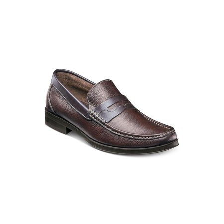 Florsheim Mens Madrid Penny Leather Closed Toe Slip On, Brown Tumble, Size 12.0 ()