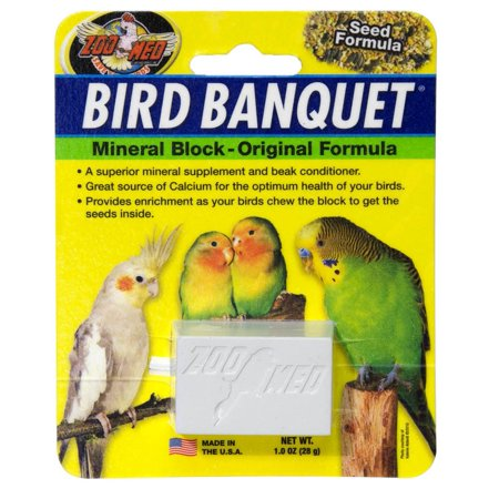 Zoo Med Labs Supplement Bird Banquet Block Original Seed Formula Small Healthy ()