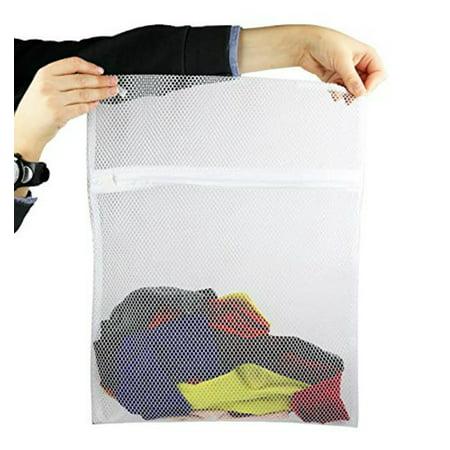 2 Pack Mesh Laundry Bag Wash Socks W Zipper Closure