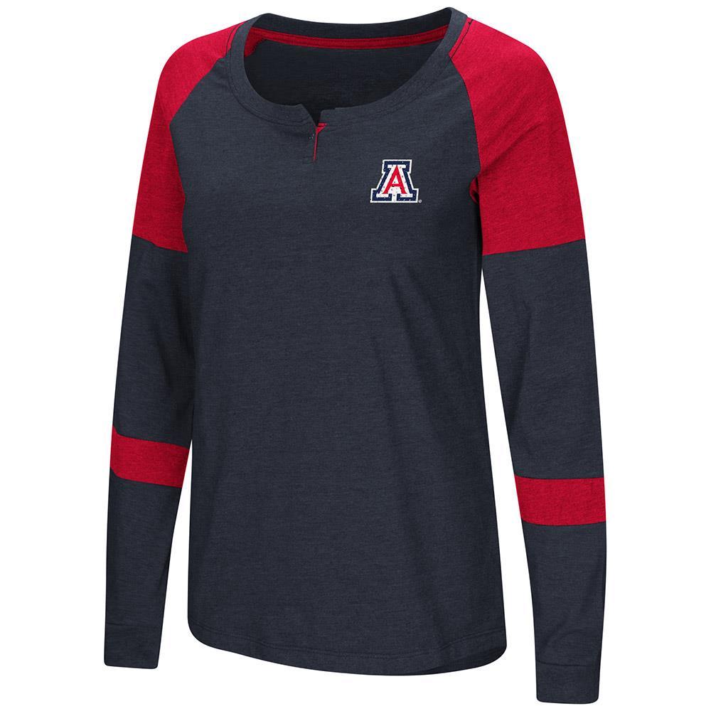 Womens Arizona Wildcats Long Sleeve Raglan Tee Shirt XL by Colosseum