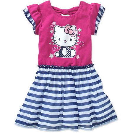Hello Kitty Toddler Girl Flutter Sleeve Tee Dress