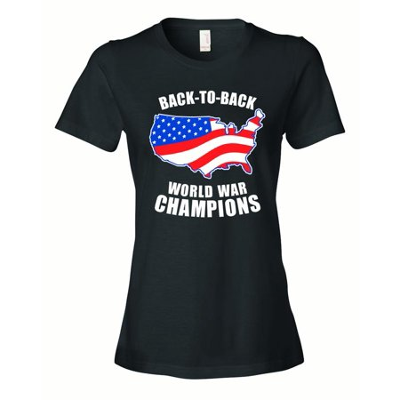Ladies American FLAG Back to Back World War Champs (Back To Back World War Champs Womens)