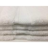 "Koni Hand Towel Softouch/60% Cotton/40% Bamboo/White/Super Plush, 16""X30"" (4pack)"