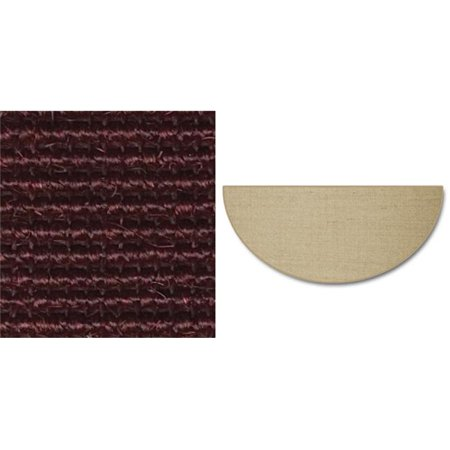 Goods Of The Woods 10894 Oxblood Sunset Natural Sisal Half Round Hearth Rug ()