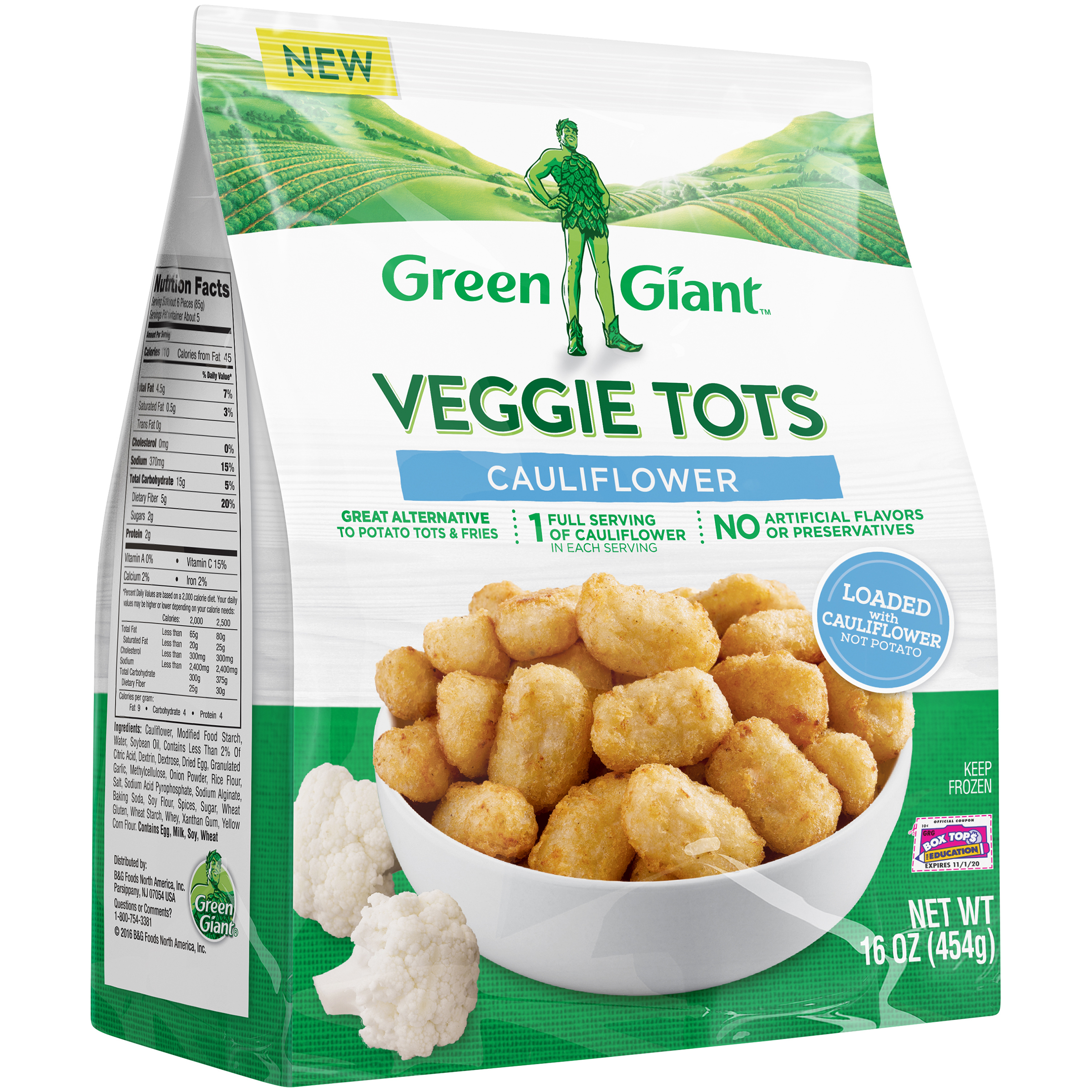 Green Giant Cauliflower Veggie Tots, 16 oz