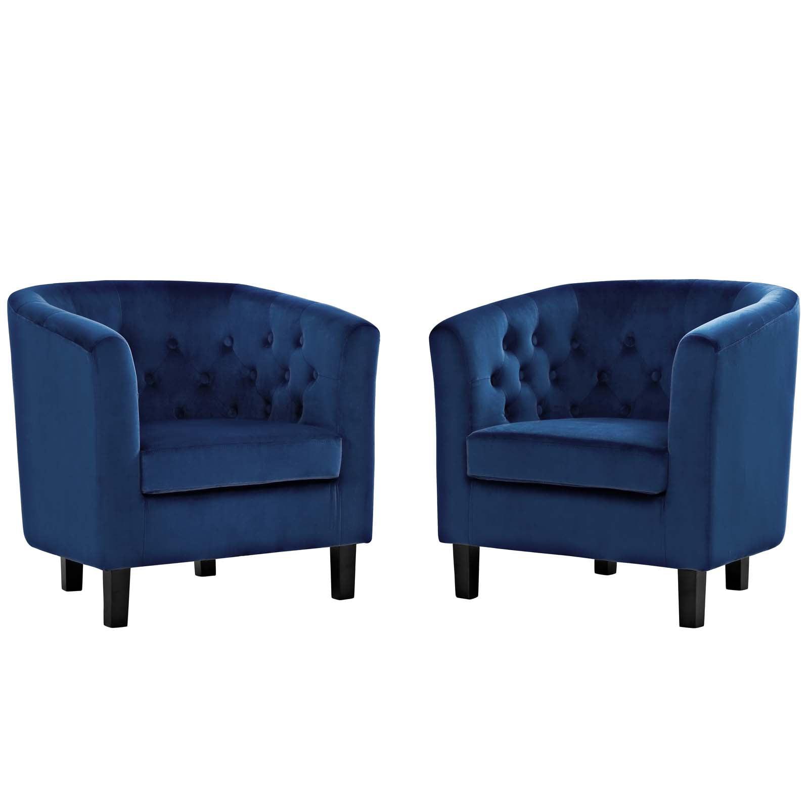mod uptown chesterfield chair navy blue  walmart