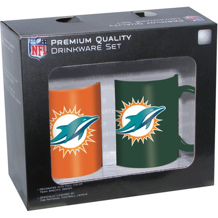 Hunter NFL Miami Dolphins 2-Pack Coffee Mug by
