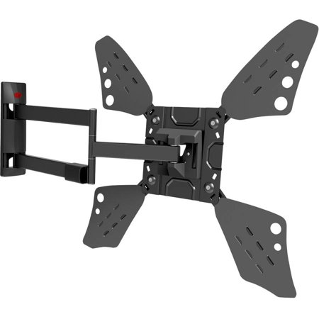 "Barkan 40""-70"" Full Motion - 4 Movements, Flat / Curved TV Wall Mount, Extremely Extendable, Dual-Arm, Patented, Black, Up to 88 lbs, UL Listed, Lifetime Warranty"