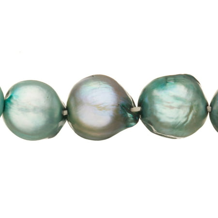 - Teal Freshwater Cultured Pearls Natural Baroque, C+ Graded, 9x7mm (Approx.), 15.5Inch Strings/41Pearls