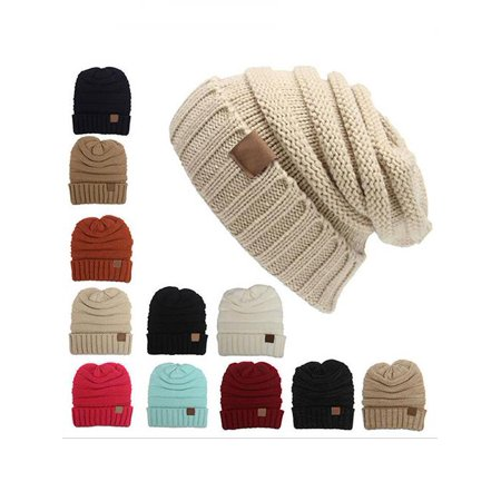 Women Fashion Winter Warm Woolen Yarn Crochet Knitted Ski Beanie Hat Cap