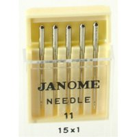 Janome Sewing Machine Universal Size 11 Needle 5 Count