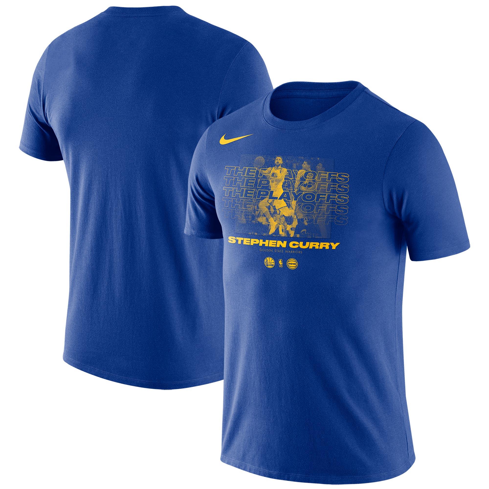 Stephen Curry Golden State Warriors Nike 2018 NBA Playoffs Player T-Shirt - Blue