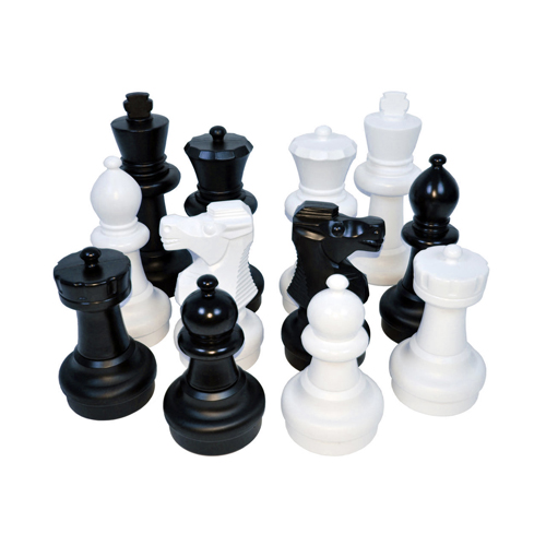 Kettler Junior Giant Chess Pieces Complete Set with 12 Inch Tall King, White and Black by Kettler Sports