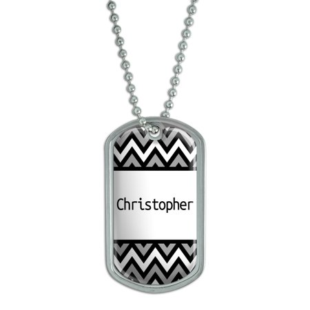 Male Names - Christopher - Dog Tag