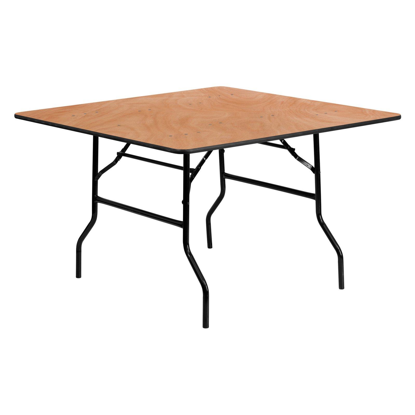 Bon Flash Furniture 48u0027u0027 Square Wood Folding Banquet Table   Walmart.com