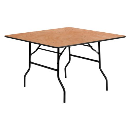 (Flash Furniture 48'' Square Wood Folding Banquet Table)