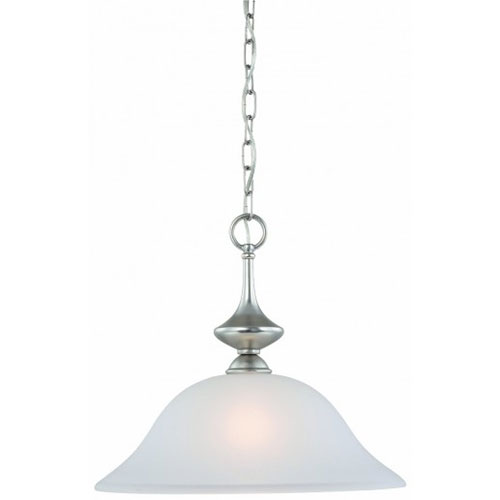 Thomas Lighting 190059117 Holly 1 Light Pendant In Matte Nickel Finish by Thomas Lighting