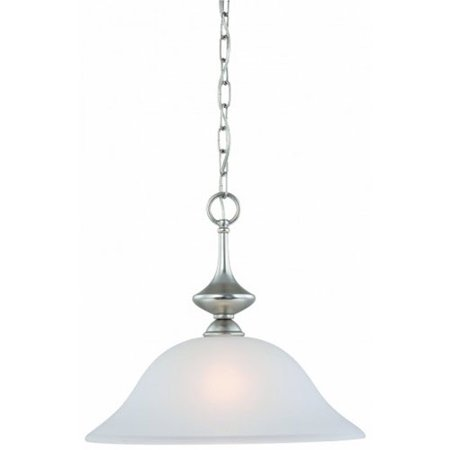 Nickel Finish Pendant Light (Thomas Lighting 190059117 Holly 1 Light Pendant In Matte Nickel Finish )