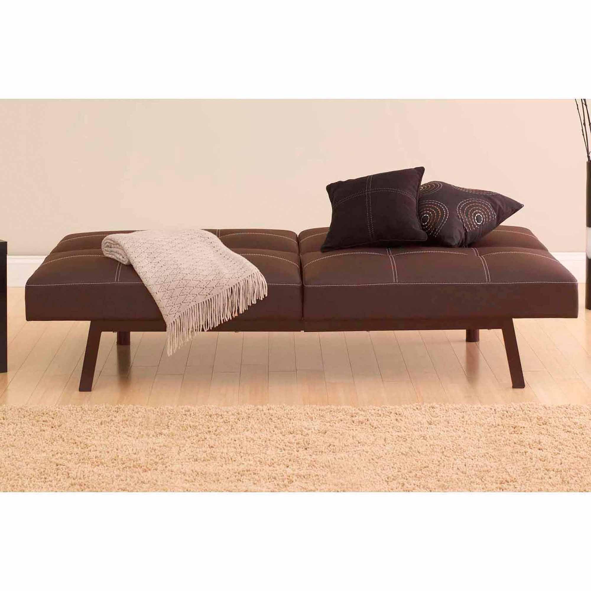 dhp delaney splitback futon sofa bed multiple colors   walmart    rh   walmart