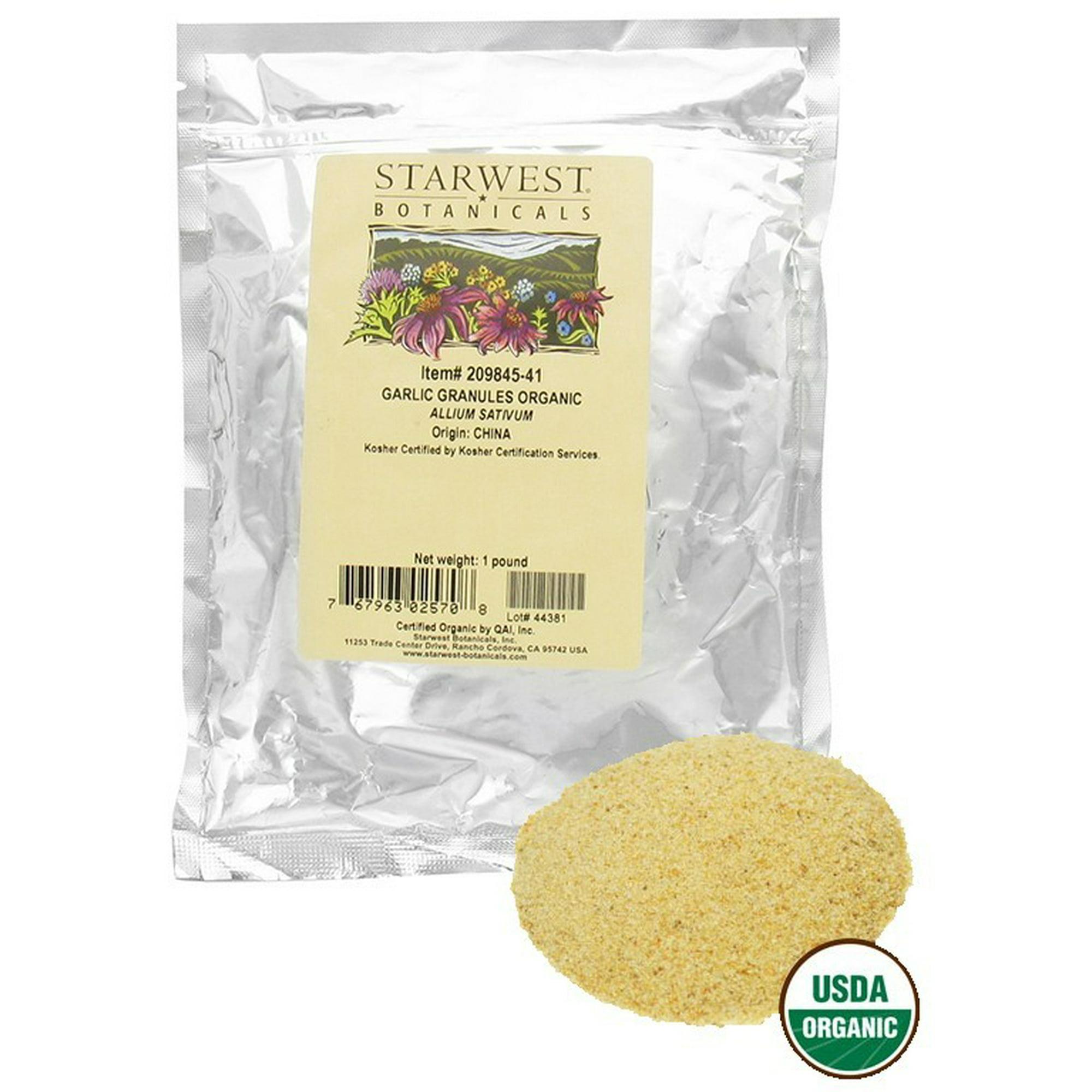 Buy Starwest Botanicals - Bulk Garlic Granules Organic - 1 lb