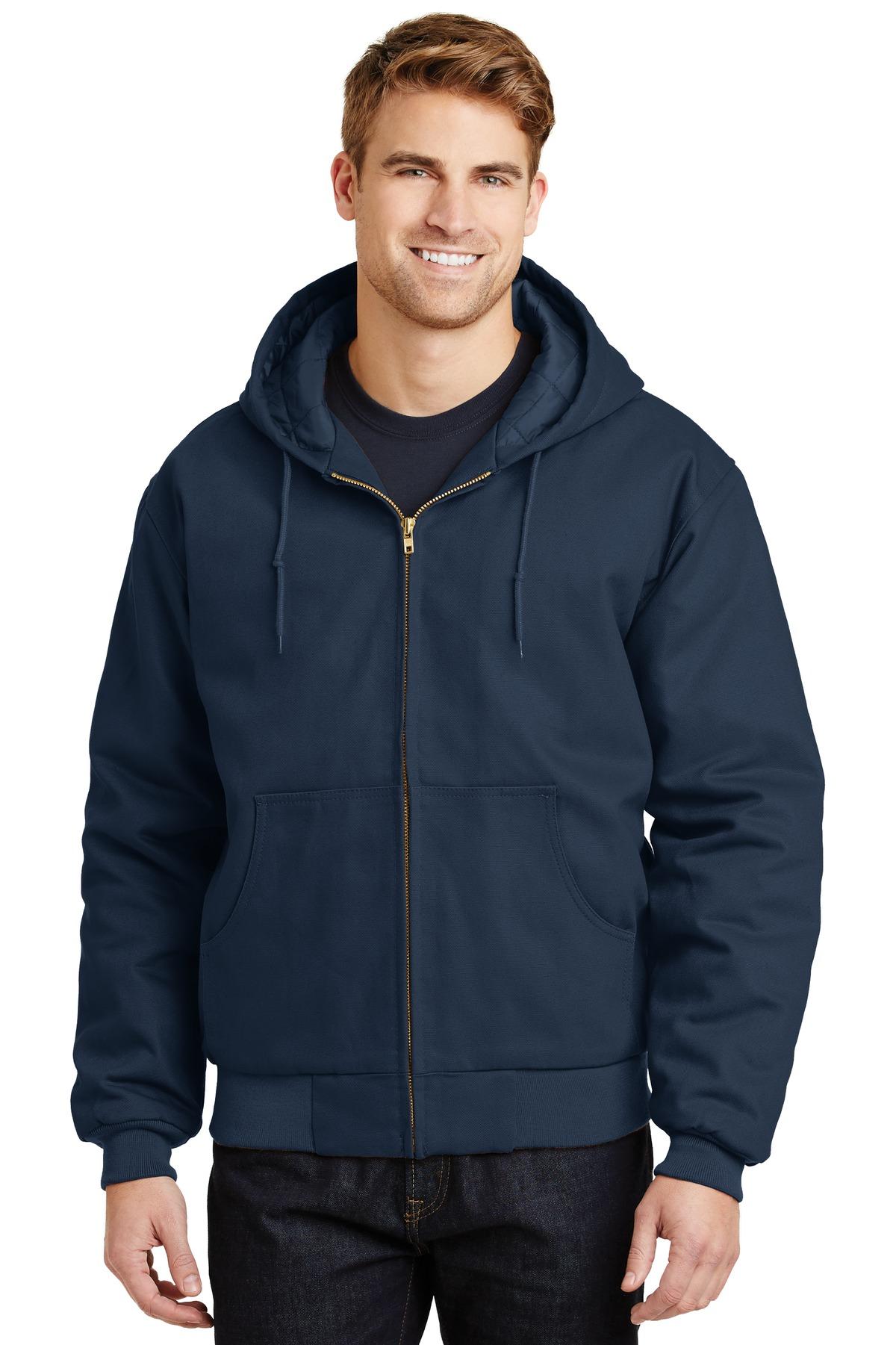 Cornerstone® - Duck Cloth Hooded Work Jacket. J763h Navy 6Xl f7022b7c0