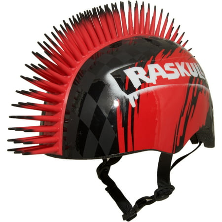 Raskullz Hawk Mohawk Black Bike Helmet, Child 5+ (50-54cm) - Mega Man Helmet