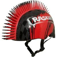 Raskullz Hawk Mohawk Black Bike Helmet, Child 5+ (50-54cm)