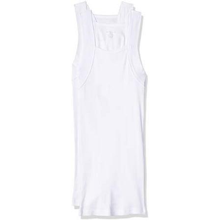 Evolve Mens Cotton Comfort Square Cut Tank Multi Pack, White, Small