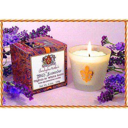 Christopher Radko's Hudson Organics Wild Lavender Luxe Spa Perfume Candle 5.1oz.