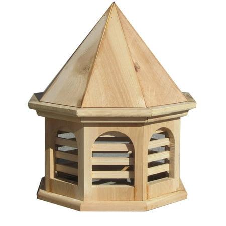 SamsGazebos English Cottage Garden Octagon Wood Cupola, 20-Inch Tall