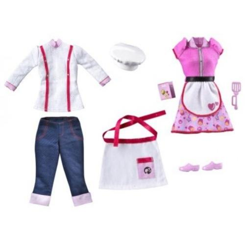 Barbie I Can Be Restaurant Fashion Pack Multi-Colored