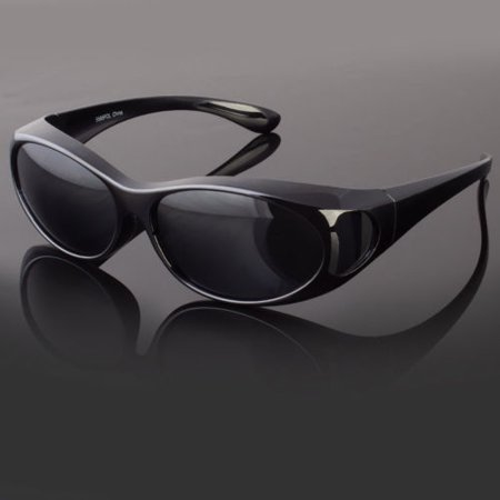 1caa7a1902 Sunny Shades - POLARIZED cover put over Anti Glare Sunglasses wear Rx glass  fit driving Medium - Walmart.com