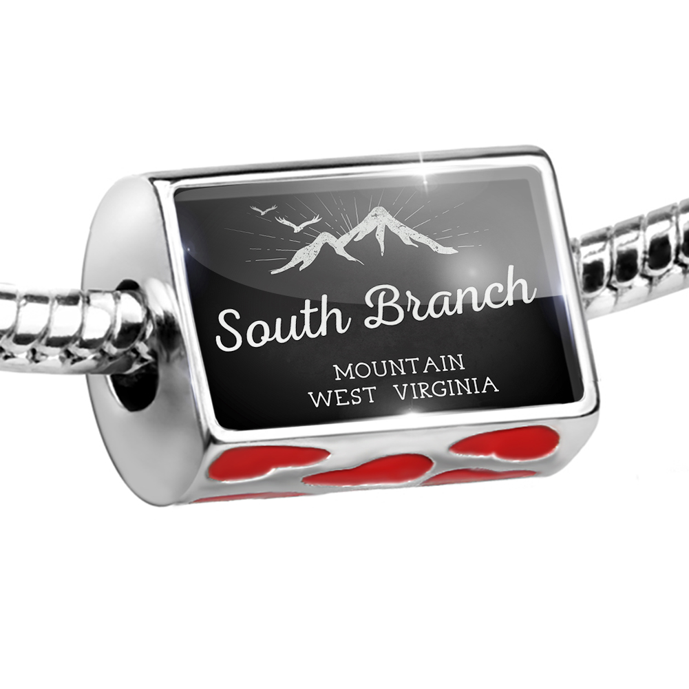 Bead Mountains chalkboard South Branch Mountain - West Virginia Charm Fits All European Bracelets