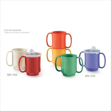 - Healthcare 8 oz 3.25 x 3.75 Single Handle Mug Rainforest Green Tritan/Case of 24