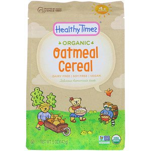 Healthy Times, Organic, Oatmeal Cereal, 4+ Months, 5 oz (142 g) (Pack of -