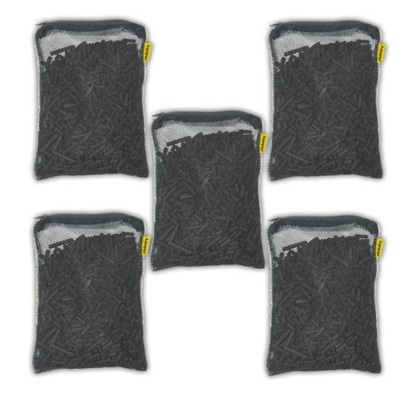 5 lbs activated charcoal carbon pellets in 5 free mesh media bags
