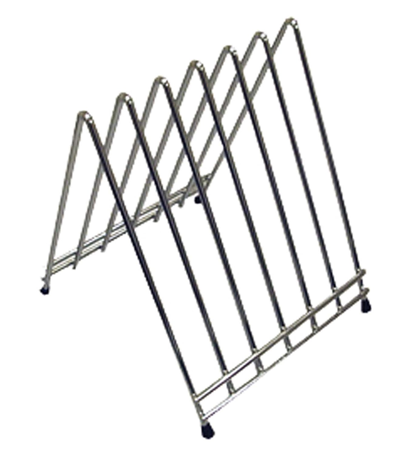 CB-6L 6-Slot Cutting Board Rack, Chrome Plated, Winco products are made to meet the high demands of a kitchen By Winco