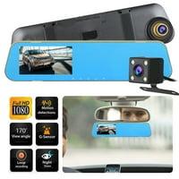 "EEEkit Mirror Dash Cam 4.3"" Full Touch Screen Car Backup Camera Dual Recording HD 1080P 170° Wide Angle Rear View Camera Night Vision,24-Hour Parking Monitoring"