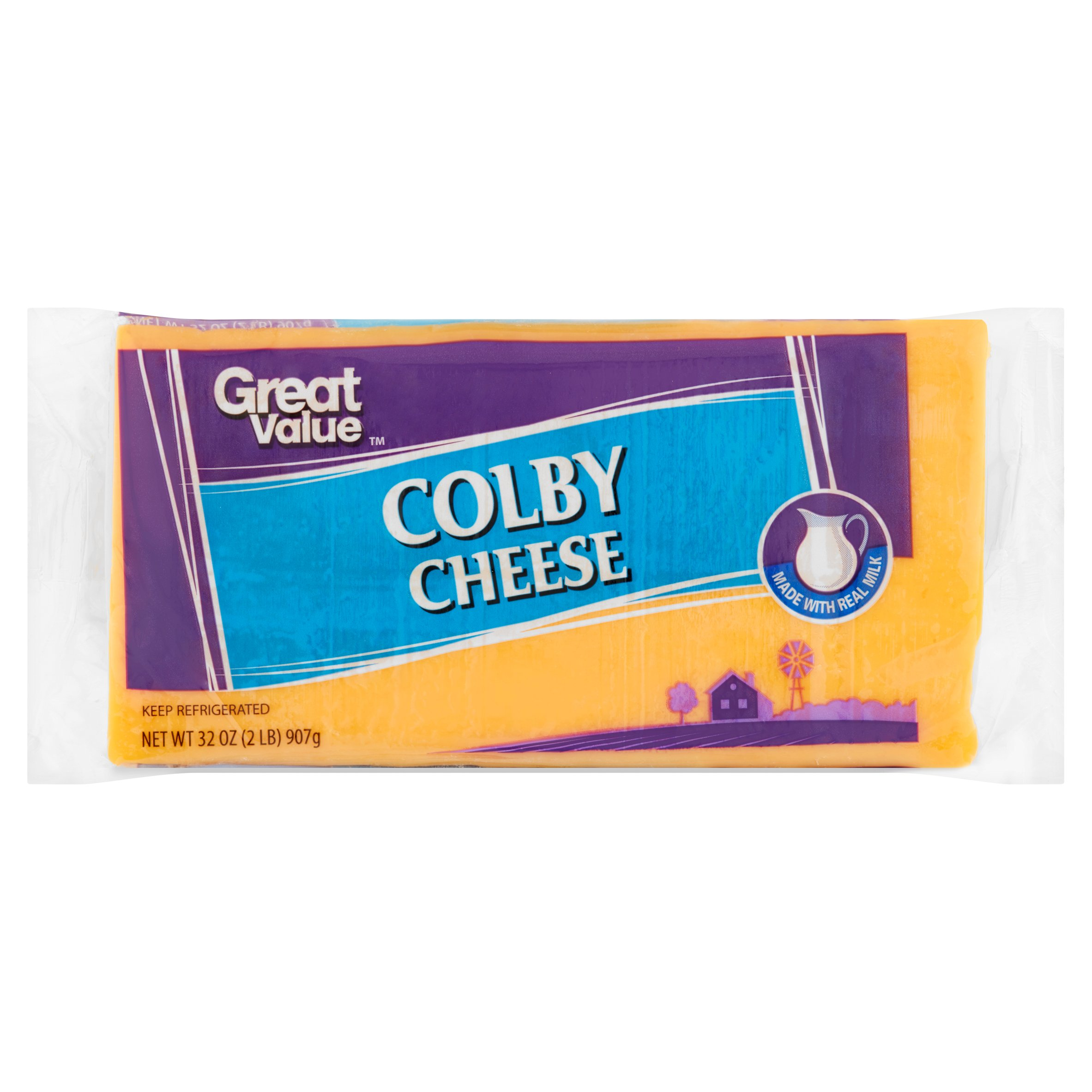 Great Value Colby Cheese, 32 oz