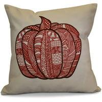 "Simply Daisy 16"" x 16"" Pumpkin Patch Geometric Print Pillow"