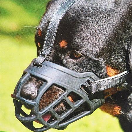 Roofei Dog Masks Dog Mouth Adjustable Compression Anti-bite Silicone Dog Dog Mouth Dog Mask Training Dog Pet Supplies Black 1-5# - image 3 de 8