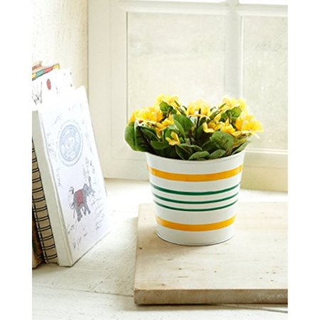 Big Size Outdoor Metal Planters Flower Pots Garden Lawn Display Ideal Home Garden (Black 1) ()