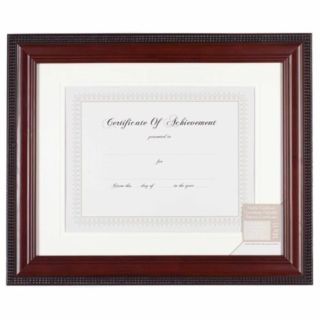 11 x 14 mat 8 5 x 11 mahogany with bead document frame. Black Bedroom Furniture Sets. Home Design Ideas