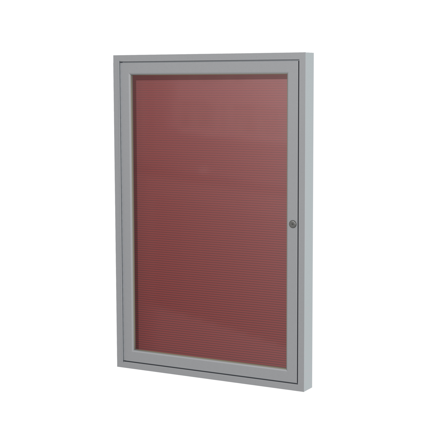 PA12418B-BG Ghent 1 Door Enclosed Traditional Satin Aluminum Frame Message Center Letter Board 24-in H x 18-in W, Burgundy
