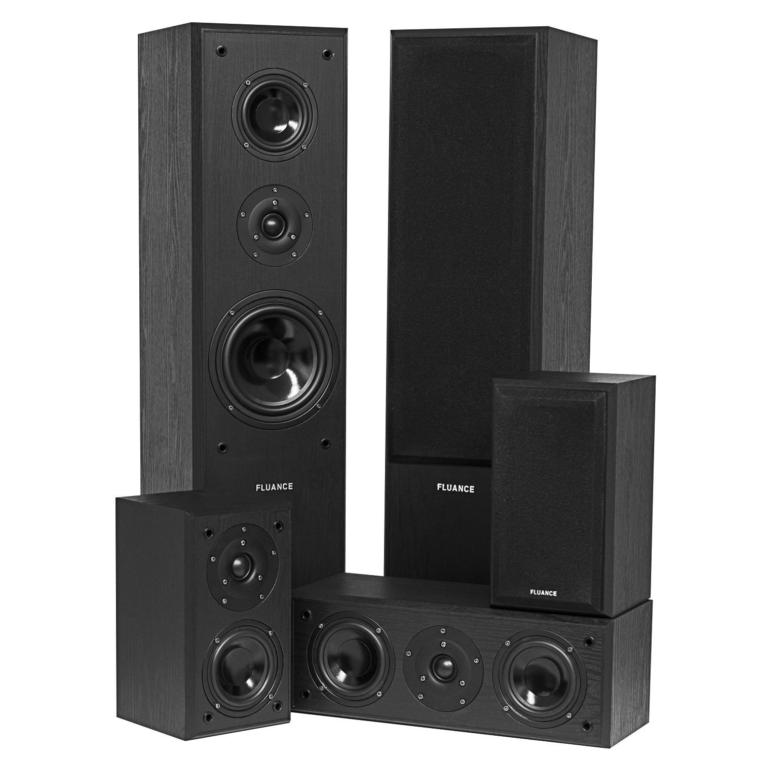 Fluance Surround Sound Home Theater 5 Speaker System Model AVHTB by Fluance