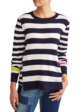 Product Image Striped High-Low Sweater Women s 0c33267a68ee