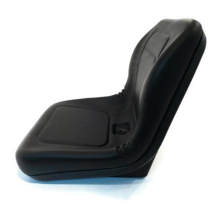 New Black HIGH BACK SEAT w/ Pivot Rod Bracket for John Deere 856 955 2210 by The ROP Shop